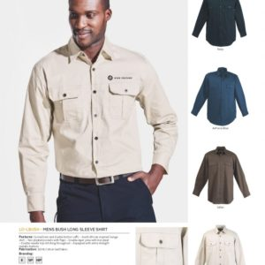 Mens Bush Shirt Long Sleeve